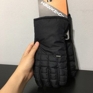 NEW Hawke & Co Men's Mid Weight Field Polyester Gloves Black size L/XL